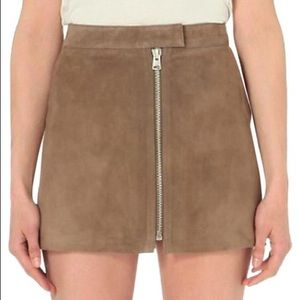 AllSaints Lancaster Leather Skirt
